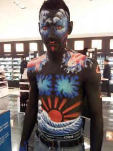 Maquillage Professionnel Demi Body guerrier japonais