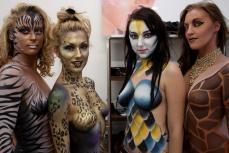 Entrainement Maquillage Body Painting avec les collègues