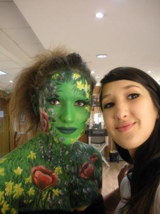 Maquillage Face Painting Beauté des champs backstage