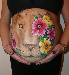 Maquillage professionnel artistique belly painting à domicile