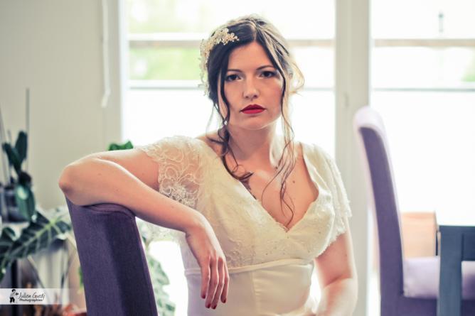 Maquillage professionnel mariée sophistiquée à domicile